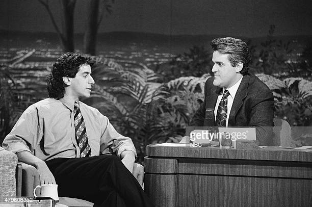 Comedian Jeff Cesario during an interview with guest host on October 15 1990