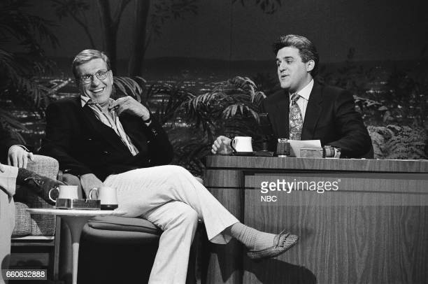 Comedian Jerry Van Dyke during an interview with guest host Jay Leno on July 3 1991