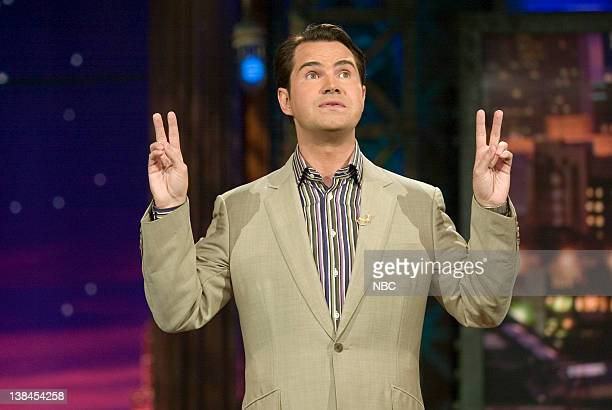 Comedian Jimmy Carr performs stand up on September 22 2005