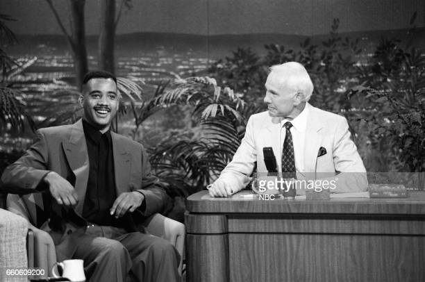 Comedian John Henton during an interview with host Johnny Carson on June 5 1991