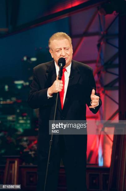 Comedian Rodney Dangerfield performing on March 4 1999
