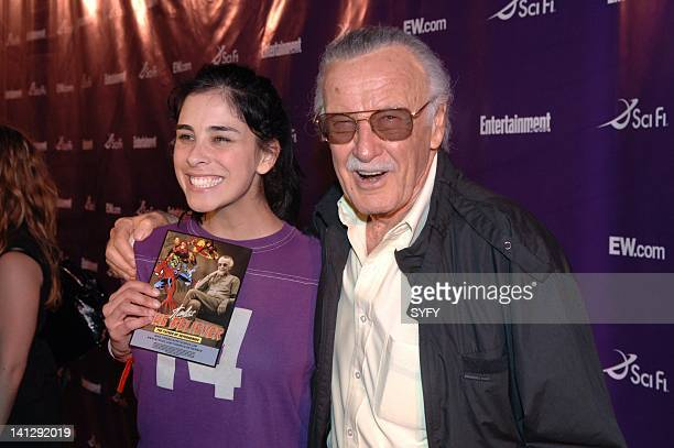 Pictured: Comedian Sarah Silverman, Stan Lee of Who Wants to be a Superhero arrive to the Sci-Fi party at the 2007 Comic-Con in San Diego, Ca --...