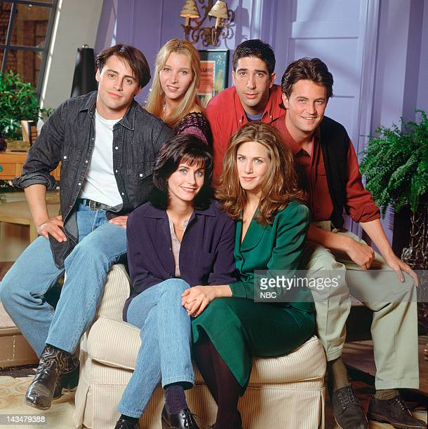Courteney Cox Arquette as Monica Geller, Matt LeBlanc as Joey Tribbiani, Lisa Kudrow as Phoebe Buffay, David Schwimmer as Ross Geller, Matthew Perry...