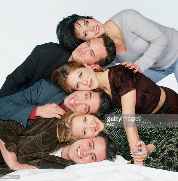 Courteney Cox Arquette as Monica Geller, Matthew Perry as Chandler Bing, Jennifer Aniston as Rachel Green, David Schwimmer as Ross Geller, Lisa...