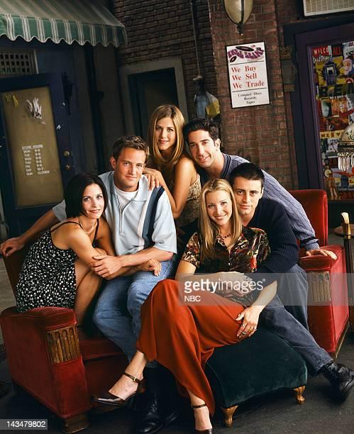 Courteney Cox as Monica Geller, Matthew Perry as Chandler Bing, Jennifer Aniston as Rachel Green, David Schwimmer as Ross Geller, Matt LeBlanc as...