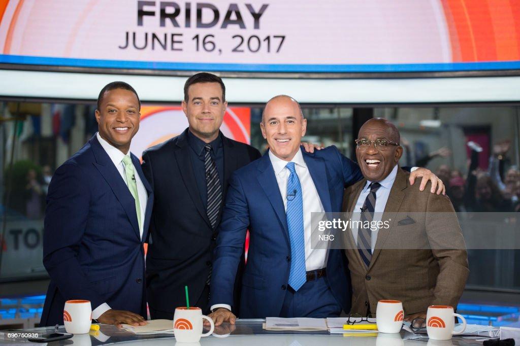 Craig Melvin, Carson Daly, Matt Lauer and Al Roker on Friday, June 16, 2017 --