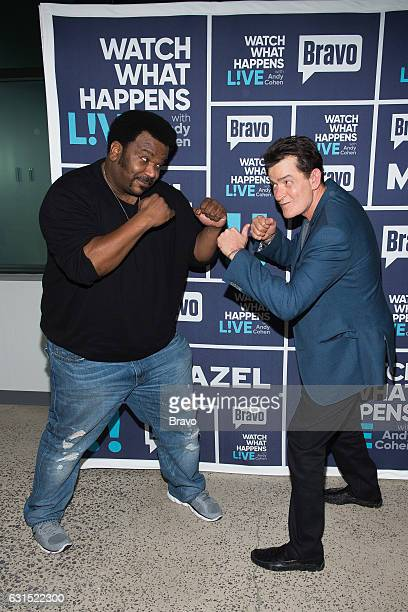 Craig Robinson and Charlie Sheen