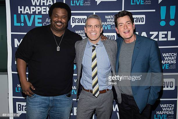 Craig Robinson Andy Cohen and Charlie Sheen