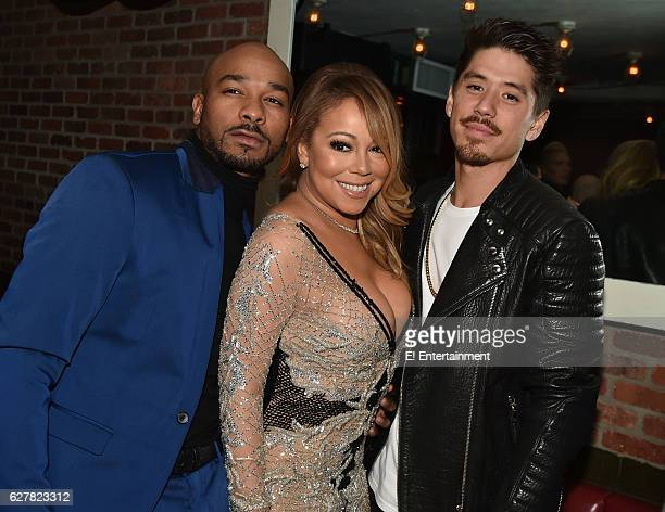 Creative Director/ Choreographer Anthony Burrell Mariah Carey and Dancer/Choreographer Bryan Tanaka at the 'Mariah's World' Premiere at Catch in New...