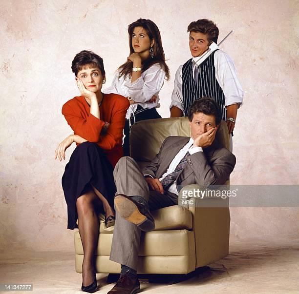 Cristine Rose as Barbara Bueller Jennifer Aniston as Jeannie Bueller Sam Freed as Bill Bueller Charlie Schlatter as Ferris Bueller Photo by Alice S...