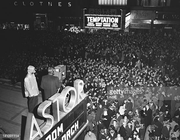 Crowds gather in Times Square to Celebrate the 1947 New Year Photo by NBCU Photo Bank