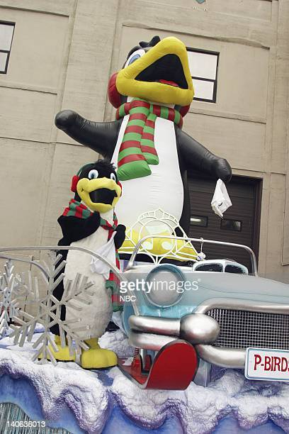 S 77TH THANKSGIVING DAY PARADE MACY'S STUDIO Pictured Cruisin' With Percy and the Pbirds float at Macy's Studio in Hoboken NJ prior to the 2003...