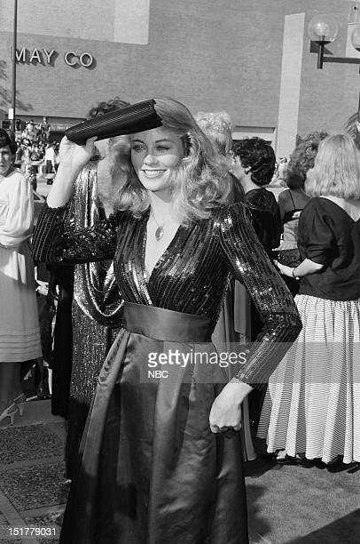 Cybill Shepherd arrives at the 35th Primetime Emmy Awards held at the Pasadena Civic Auditorium in Pasadena CA on September 25 1983