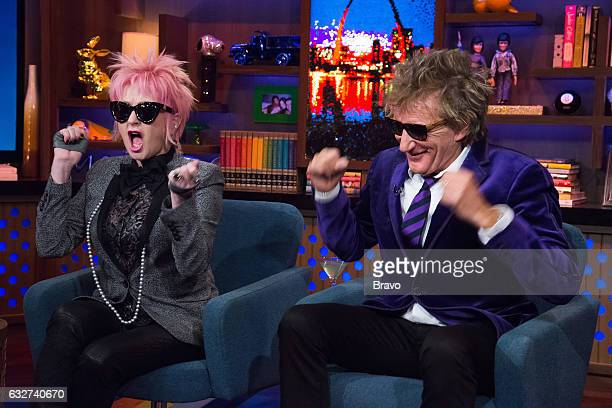Cyndi Lauper and Rod Stewart