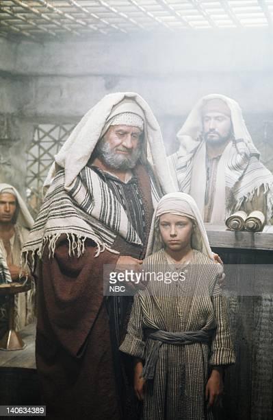 Cyril Cusack as Yehuda Lorenzo Monet as Jesus aged 12 years Yorgo Voyagis as Joseph Photo by NBC/NBCU Photo Bank