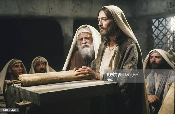 Cyril Cusack as Yehuda Robert Powell as Jesus Photo by NBC/NBCU Photo Bank