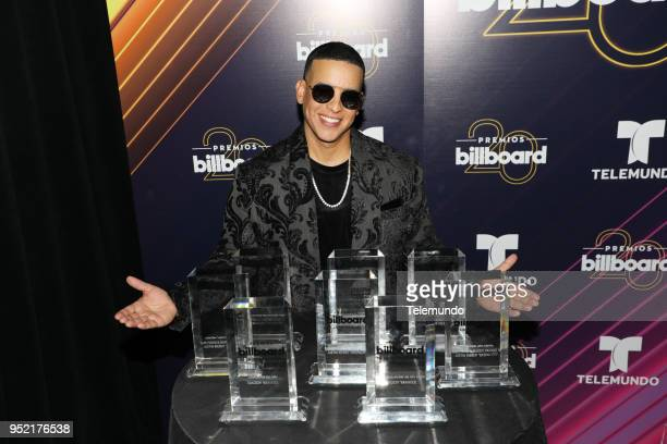 Daddy Yankee poses backstage at the Mandalay Bay Resort and Casino in Las Vegas NV on April 26 2018