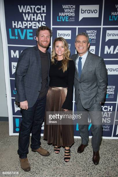 Dale Earnhardt Jr Amy Reimann and Andy Cohen