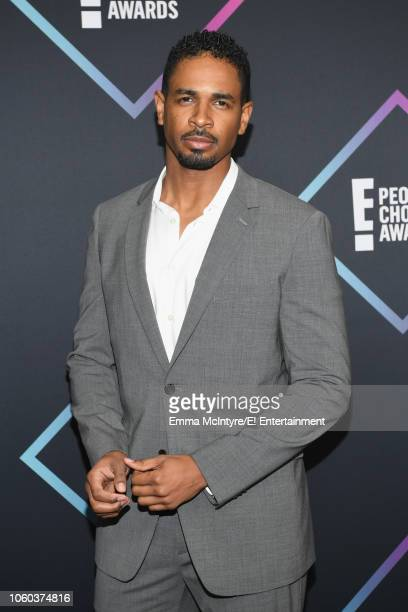 Pictured: Damon Wayans, Jr. Arrives to the 2018 E! People's Choice Awards held at the Barker Hangar on November 11, 2018 -- NUP_185068 --
