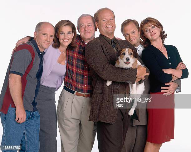 Dan Butler as Bob 'Bulldog' Briscoe Peri Gilpin as Roz Doyle John Mahoney as Martin Crane Kelsey Grammer as Dr Frasier Crane Moose as Eddie David...