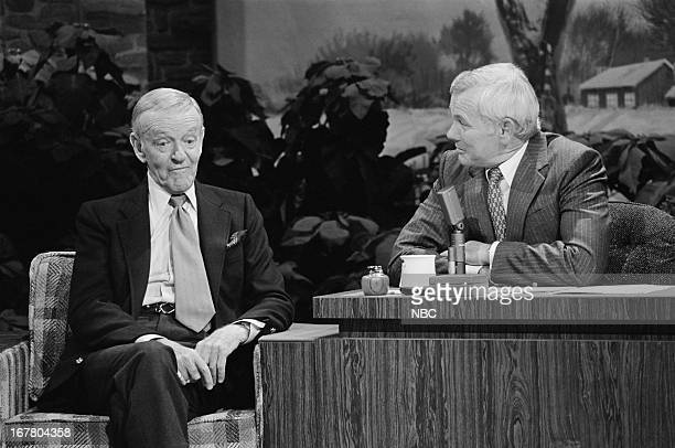 Dancer/actor Fred Astaire host Johnny Carson on December 21 1979