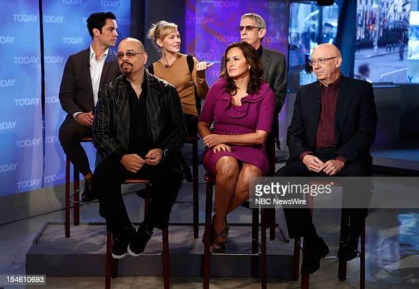 Danny Pino Ice T Kelli Giddish Richard Belzer Mariska Hargitay and Dann Florek appear on NBC News' Today show