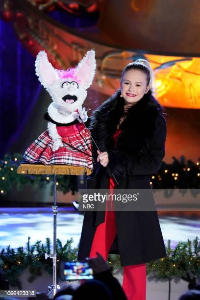 Darci Lynne performs during the 2018 Christmas in Rockefeller Center
