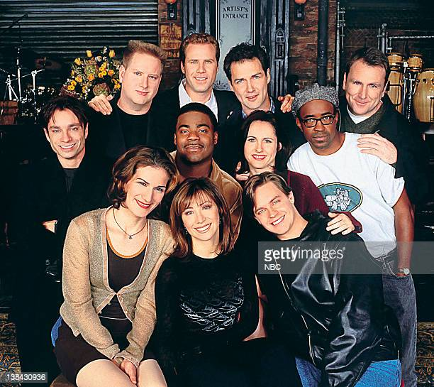 Pictured: Darrell Hammond, Will Ferrell, Norm MacDonald, Colin Quinn, Chris Kattan, Tracy Morgan, Molly Shannon, Tim Meadows, Ana Gasteyer, Cheri...