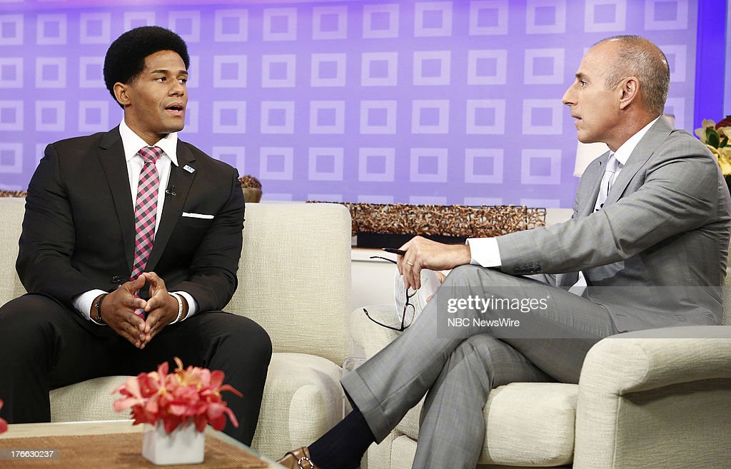 Darren Young and Matt Lauer appear on NBC News' 'Today' show --