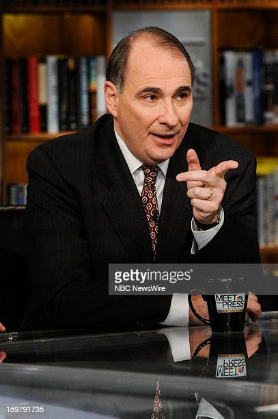 – David Axelrod Former White House Senior Adviser and Obama Campaign Strategist appears on 'Meet the Press' in Washington DC Sunday Jan 20 2013