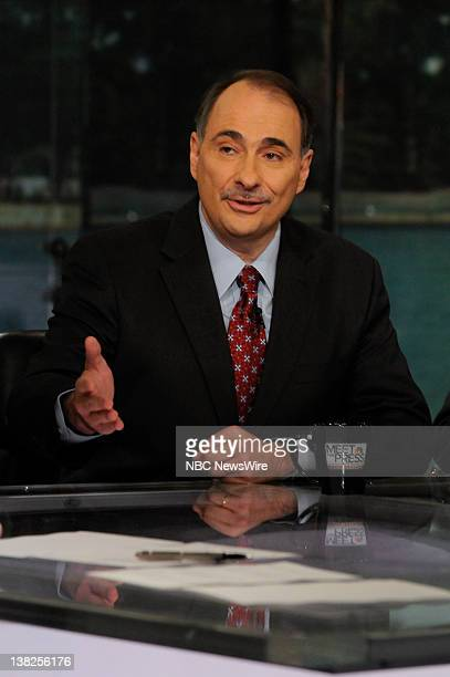 David Axelrod Former White House Senior Adviser appears on 'Meet the Press' in Washington DC Sunday May 1 2011