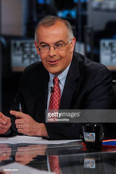 David Brooks Columnist The New York Times appears on 'Meet the Press' in Washington DC Sunday April 14 2013
