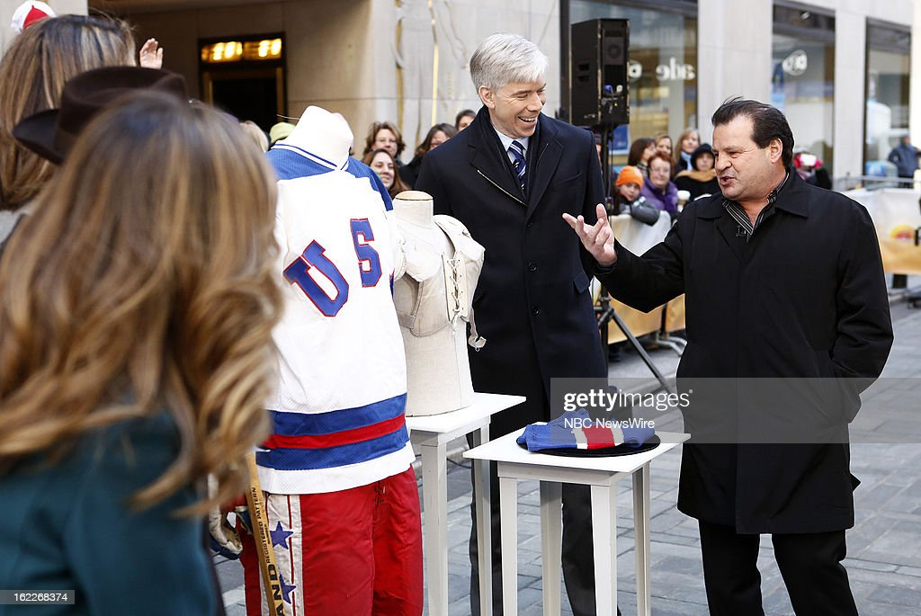 "NBC's ""Today"" With Guests John Legend, Chrissy Teigen, Mike Eruzione, Gesine Bullock-Prado, Colin Cowie"