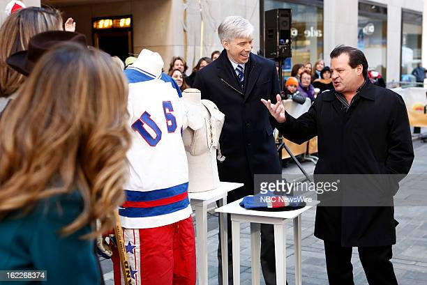 David Gregory and Mike Eruzione appear on NBC News' 'Today' show