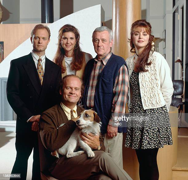 David Hyde Pierce as Dr Niles Crane Peri Gilpin as Roz Doyle John Mahoney as Martin Crane Jane Leeves as Daphne Moon Moose as Eddie Kelsey Grammer as...