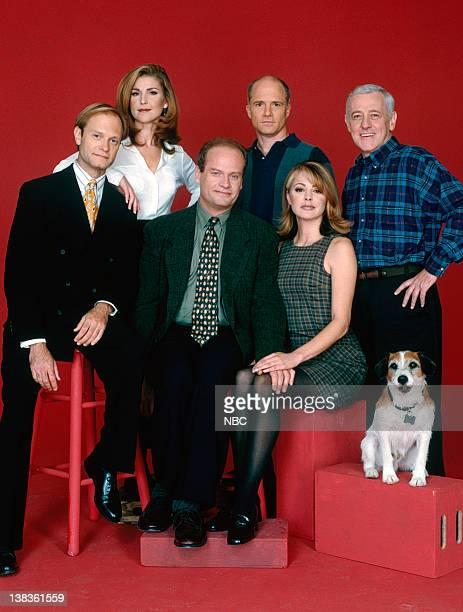 David Hyde Pierce as Dr Niles Crane Peri Gilpin as Roz Doyle Dan Butler as Bob 'Bulldog' Briscoe John Mahoney as Martin Crane Moose as Eddie Jane...