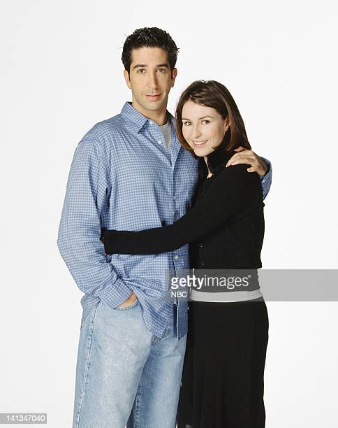 David Schwimmer as Dr. Ross Geller, Helen Baxendale as Emily Waltham -- Photo by: NBC/NBCU Photo Bank