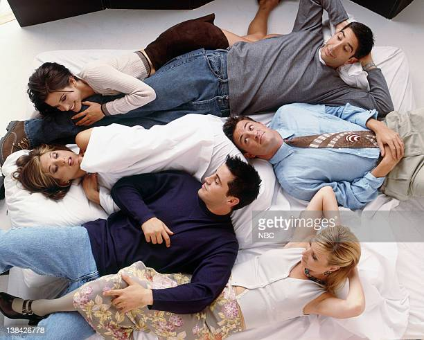 David Schwimmer as Ross Geller, Courteney Cox as Monica Geller, Matthew Perry as Chandler Bing, Jennifer Aniston as Rachel Green, Matt Le Blanc as...