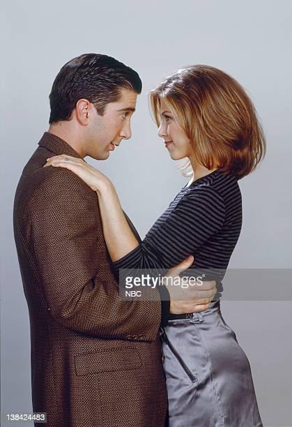 David Schwimmer as Ross Geller, Jennifer Aniston as Rachel Green