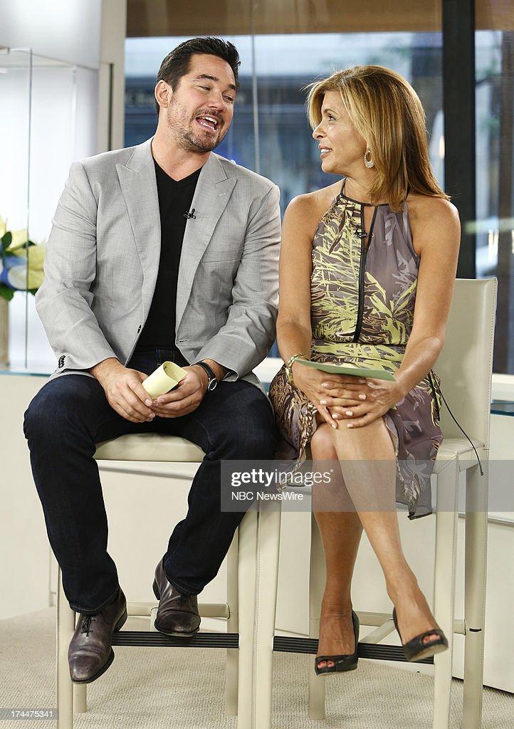 Dean Cain and Hoda Kotb appear on NBC News' 'Today' show --
