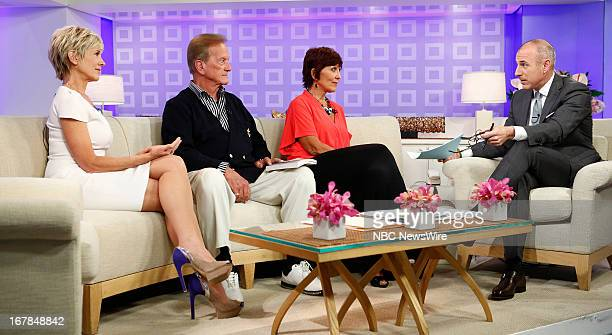 Debby Boone Pat Boone Lindy Boone Michaelis and Matt Lauer appear on NBC News' Today show