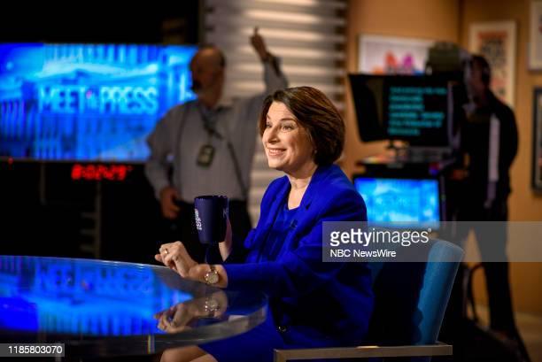 Democratic Presidential candidate Sen Amy Klobuchar appears on Meet the Press in Washington DC Sunday December 1 2019