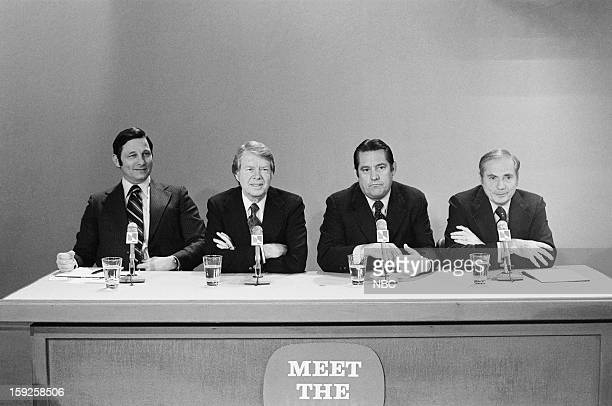 Democratic Presidential candidates Senator Birch Bayh Former Georgia Governor Jimmy Carter former senator Fred R Harris Pennsylvania Governor Milton...