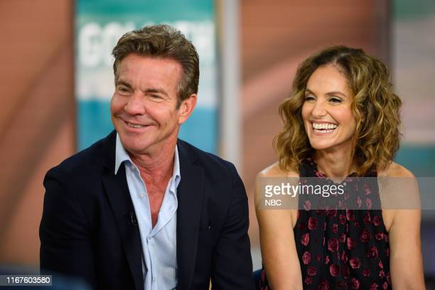Dennis Quaid and Amy Brenneman on Thursday, September 12, 2019 --