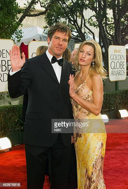Dennis Quaid and Kimberly Quaid arrive at the 60th Annual Golden Globe Awards held at the Beverly Hilton Hotel on January 19 2003