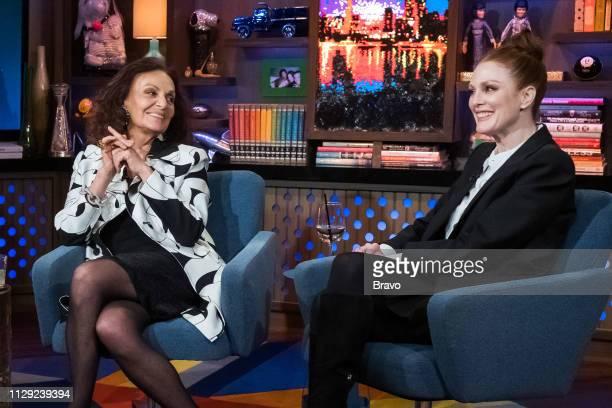 Diane von Furstenburg and Julianne Moore