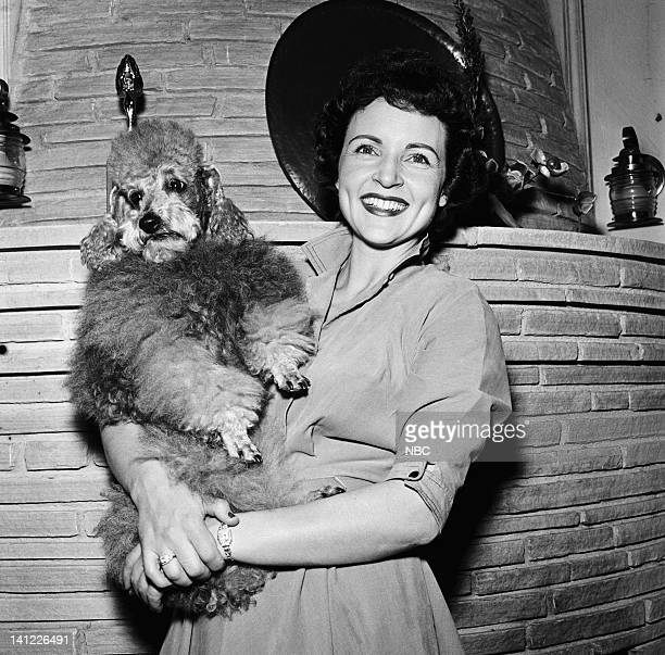 Dog Danny actress Betty White at home in 1954 Photo by Herb Ball/NBC/NBCU Photo Bank