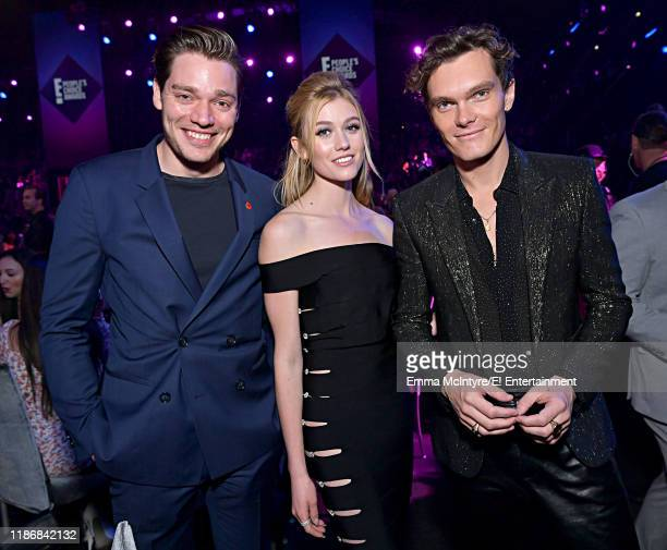 Pictured: Dominic Sherwood, Katherine McNamara and Luke Baines during the 2019 E! People's Choice Awards held at the Barker Hangar on November 10,...