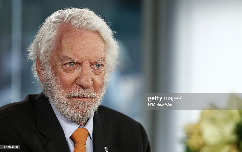Donald Sutherland appears on NBC News' 'Today' show --