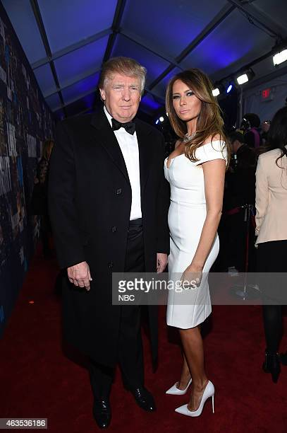 Pictured: Donald Trump, Melanie Trump walk the red carpet at the SNL 40th Anniversary Special at 30 Rockefeller Plaza in New York, NY on February 15,...